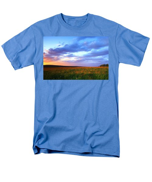 Sunset In Ithaca South Hill Men's T-Shirt  (Regular Fit) by Paul Ge