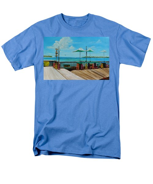 Sunset Pier Tiki Bar - Key West Florida Men's T-Shirt  (Regular Fit) by Lloyd Dobson