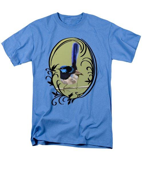 Superb Blue Wren Australian Bird Men's T-Shirt  (Regular Fit)
