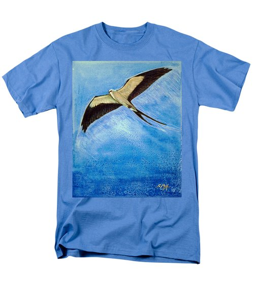 Men's T-Shirt  (Regular Fit) featuring the mixed media Swallowtail Sighting by Suzanne McKee