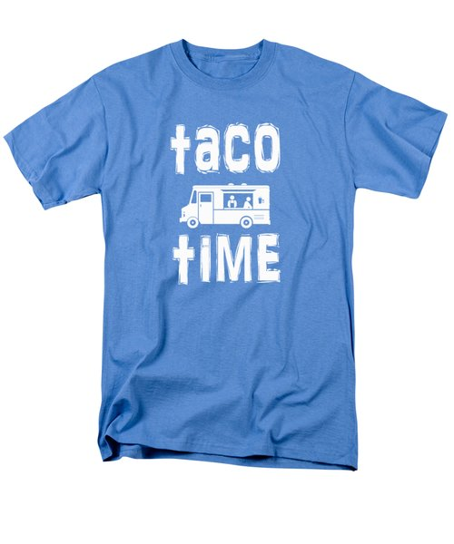 Men's T-Shirt  (Regular Fit) featuring the drawing Taco Time Food Truck Tee by Edward Fielding