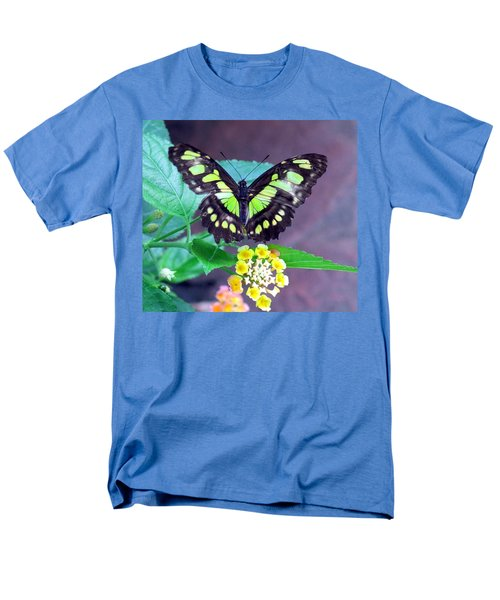 Tailed Jay Visits Lantana Men's T-Shirt  (Regular Fit) by Betty Buller Whitehead