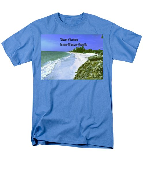 Men's T-Shirt  (Regular Fit) featuring the photograph Take Care Of The Minutes by Gary Wonning
