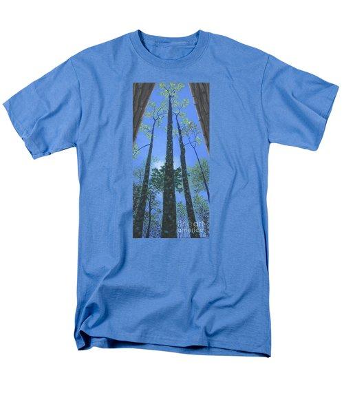 Tall Blue Ridge Beauty Men's T-Shirt  (Regular Fit) by Anne Marie Brown