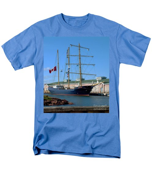 Men's T-Shirt  (Regular Fit) featuring the photograph Tall Ship Waiting by RC DeWinter