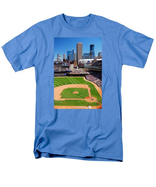 Target Field, Home Of The Twins Men's T-Shirt  (Regular Fit) by James Kirkikis