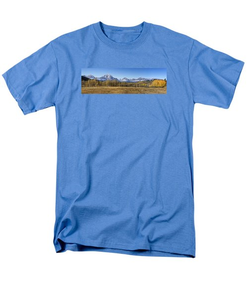 Men's T-Shirt  (Regular Fit) featuring the photograph Teton Panorama by Shirley Mitchell