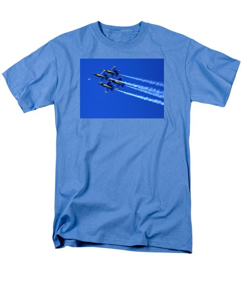 Thanks Goodness For That Fourth Dimension As A Boeing 767 Transitions Above The Box. Men's T-Shirt  (Regular Fit)
