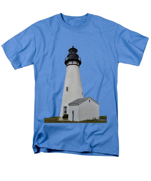 The Amelia Island Lighthouse Transparent For Customization Men's T-Shirt  (Regular Fit) by D Hackett