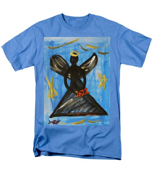Men's T-Shirt  (Regular Fit) featuring the painting The Angel Of Jazz by Mary Carol Williams