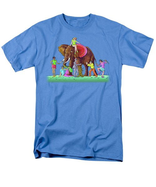 The Blind And The Elephant Men's T-Shirt  (Regular Fit) by Anthony Mwangi