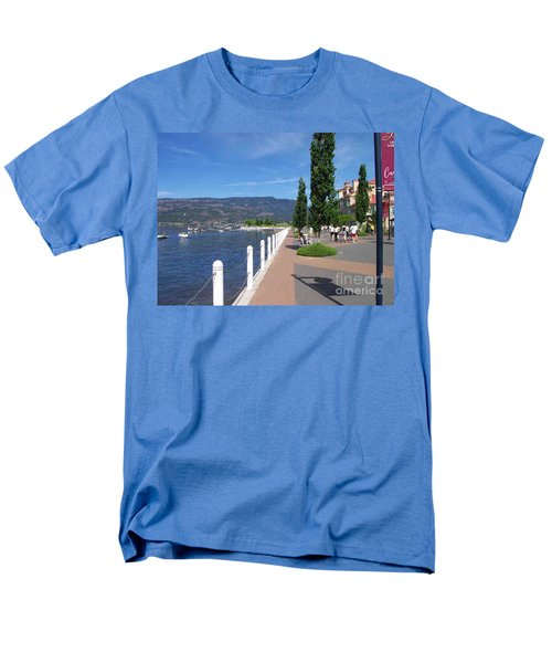 Men's T-Shirt  (Regular Fit) featuring the painting The Boardwalk In Kelowna   by Rod Jellison