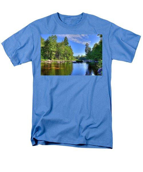 Men's T-Shirt  (Regular Fit) featuring the photograph The Calm Below Buttermilk Falls by David Patterson