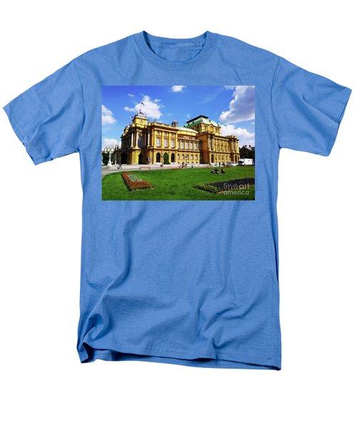 The Croatian National Theater In Zagreb, Croatia Men's T-Shirt  (Regular Fit) by Jasna Dragun