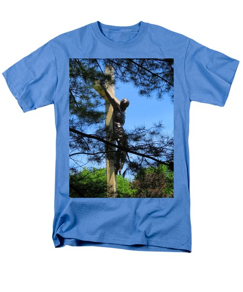 The Cross In The Woods Men's T-Shirt  (Regular Fit) by Keith Stokes