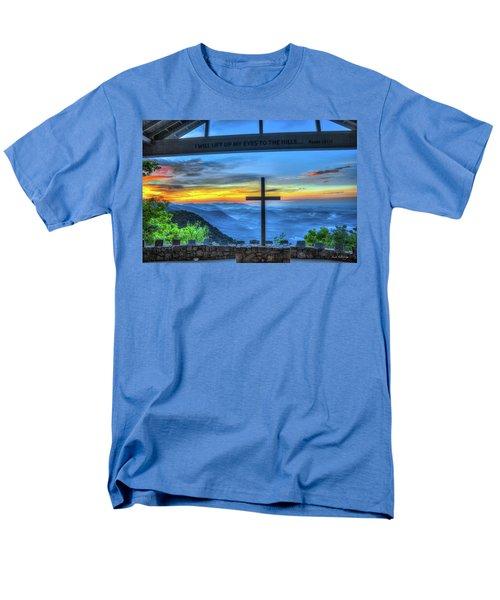 The Cross Sunrise At Pretty Place Chapel Men's T-Shirt  (Regular Fit) by Reid Callaway