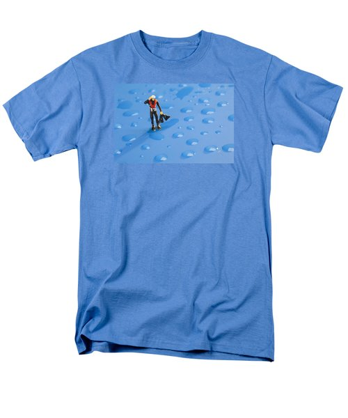 Men's T-Shirt  (Regular Fit) featuring the photograph The Diver Among Water Drops Little People Big World by Paul Ge
