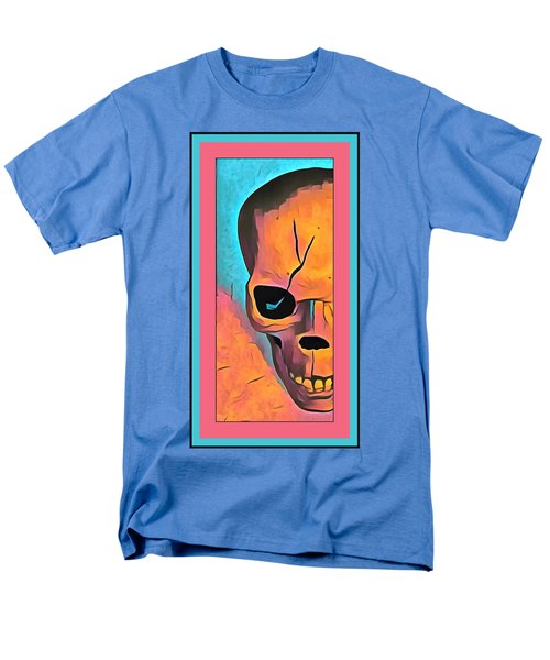 Men's T-Shirt  (Regular Fit) featuring the digital art The Eye Of Death Abstract Skull by Floyd Snyder