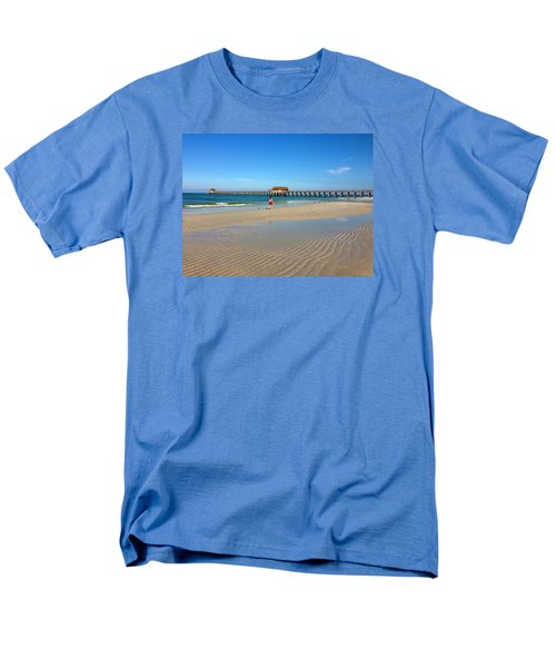 The Naples Pier At Low Tide Men's T-Shirt  (Regular Fit) by Robb Stan