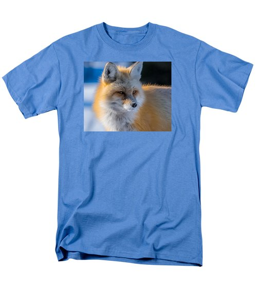 Men's T-Shirt  (Regular Fit) featuring the photograph The Red Fox Portrait In Snow by Yeates Photography