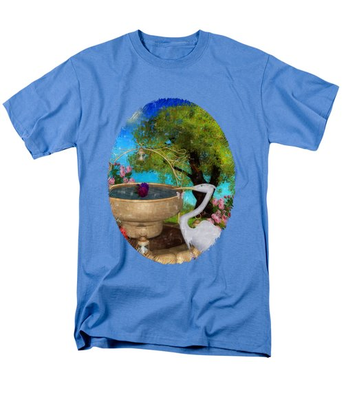 The Rose Path Egret Men's T-Shirt  (Regular Fit) by Sharon and Renee Lozen