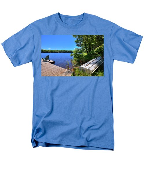 Men's T-Shirt  (Regular Fit) featuring the photograph The Rowboat On West Lake by David Patterson