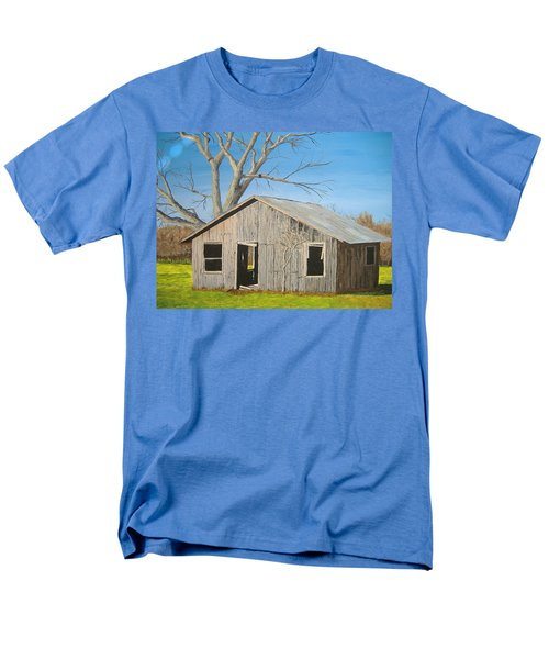 Men's T-Shirt  (Regular Fit) featuring the painting The Shack by Norm Starks