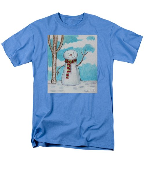 The Snowman Smile Men's T-Shirt  (Regular Fit) by Elizabeth Robinette Tyndall