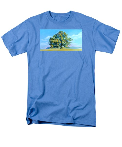 Thomas Jefferson's White Oak Tree On The Way To James Madison's For Afternoon Tea Men's T-Shirt  (Regular Fit) by Catherine Twomey