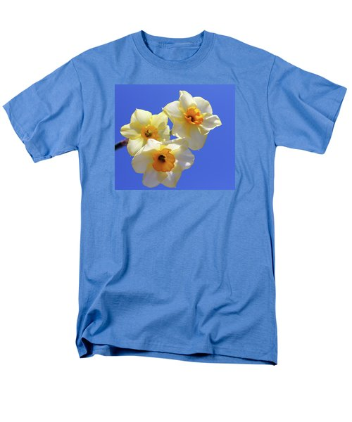Men's T-Shirt  (Regular Fit) featuring the photograph Three Daffodils by Judy Vincent