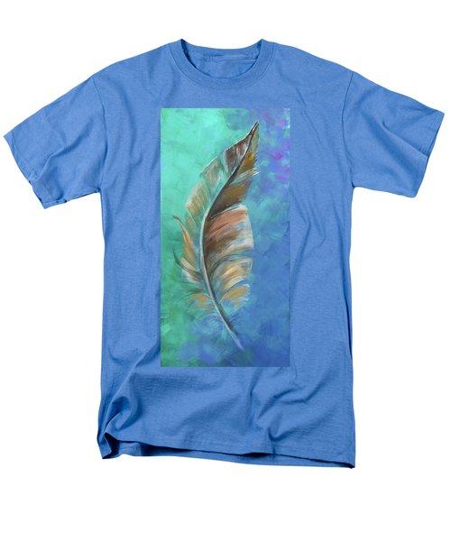 Three Feathers Triptych-center Panel Men's T-Shirt  (Regular Fit)