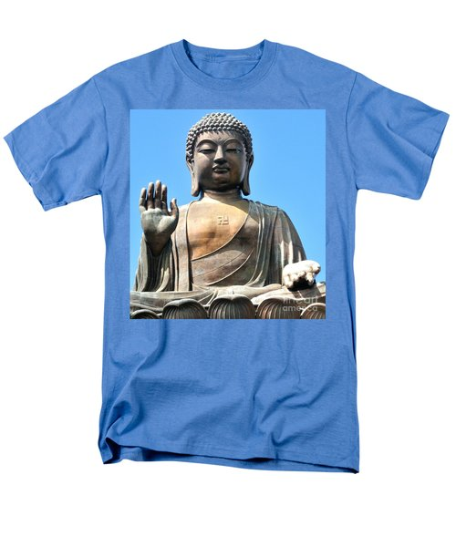Tian Tan Buddha Men's T-Shirt  (Regular Fit) by Joe  Ng
