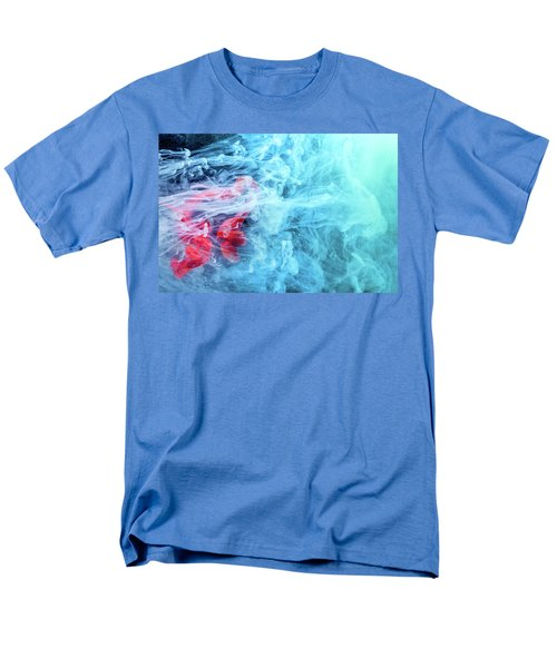 Time Travel - Blue Abstract Photography Men's T-Shirt  (Regular Fit) by Modern Art Prints