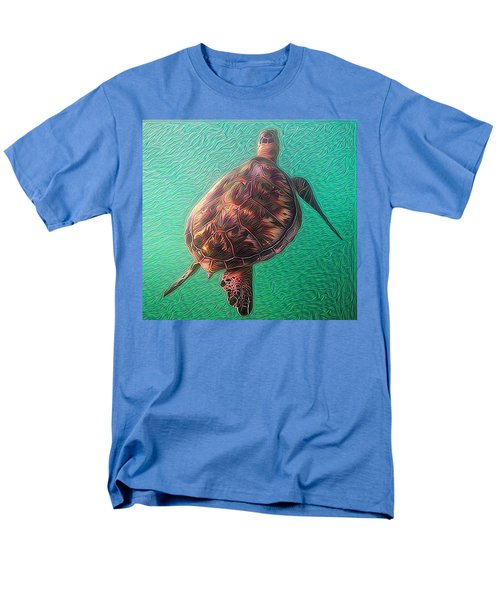 Men's T-Shirt  (Regular Fit) featuring the digital art Tito The Turtle by Erika Swartzkopf