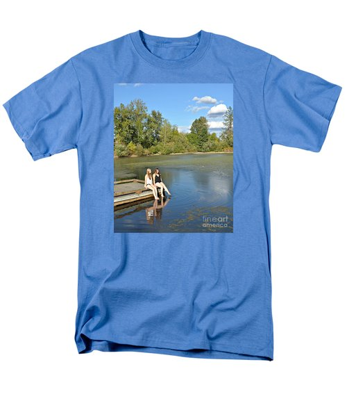 Toes In The Water Men's T-Shirt  (Regular Fit) by Mindy Bench