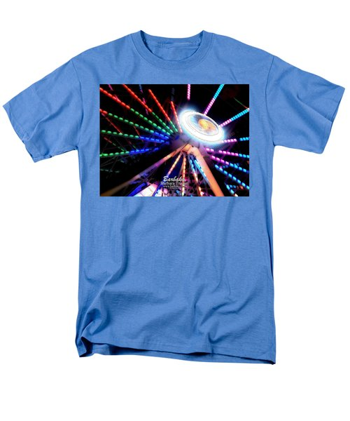 Trail Of Lights Abstract #7486 Men's T-Shirt  (Regular Fit) by Barbara Tristan
