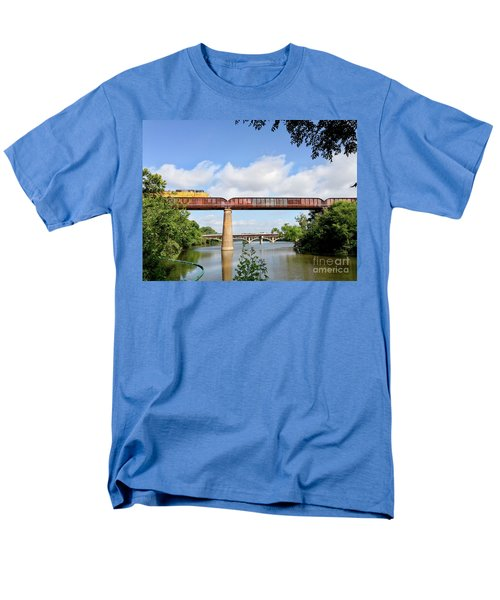Train Across Lady Bird Lake Men's T-Shirt  (Regular Fit) by Felipe Adan Lerma