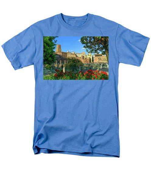 Trajan's Forum, Traiani, Roma, Italy Men's T-Shirt  (Regular Fit) by Elenarts - Elena Duvernay photo