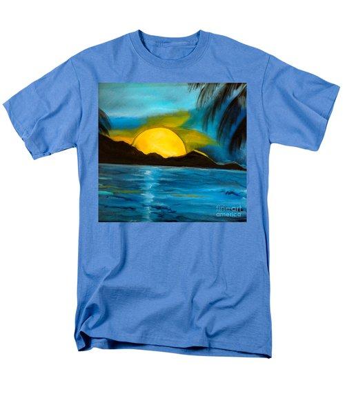 Tropical Moonshine Men's T-Shirt  (Regular Fit) by Jenny Lee