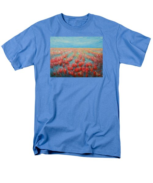 Tulips Dance Abstract 4 Men's T-Shirt  (Regular Fit) by Jane See