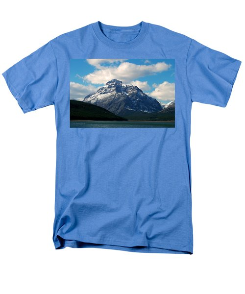 Two Medicine Lake And Rising Wolf Mountain Men's T-Shirt  (Regular Fit)