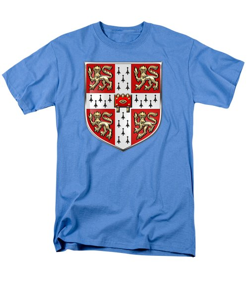 University Of Cambridge Seal - Coat Of Arms Over Colours Men's T-Shirt  (Regular Fit)