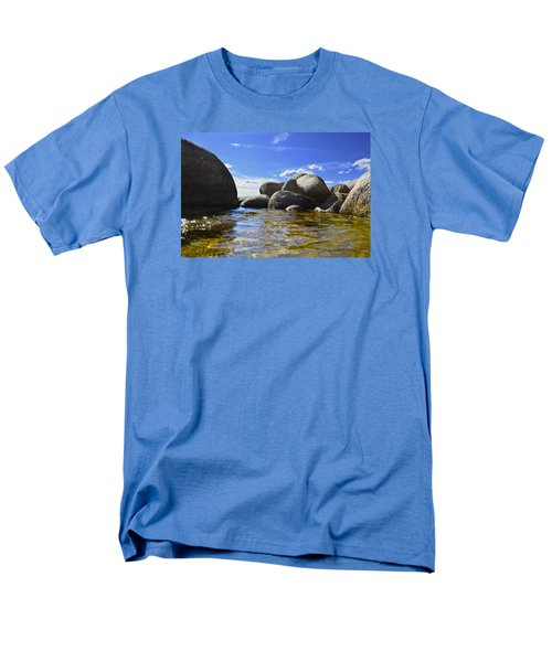 View From The Water Of Lake Tahoe Men's T-Shirt  (Regular Fit) by Alex King