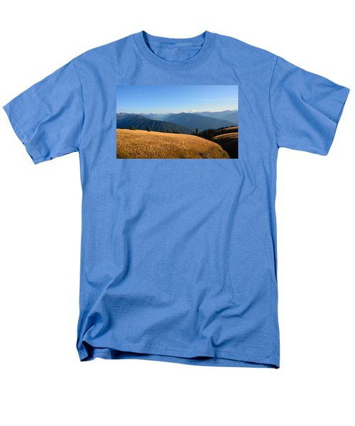Men's T-Shirt  (Regular Fit) featuring the photograph View Of Olympics From Hurricane Ridge by Ronda Broatch