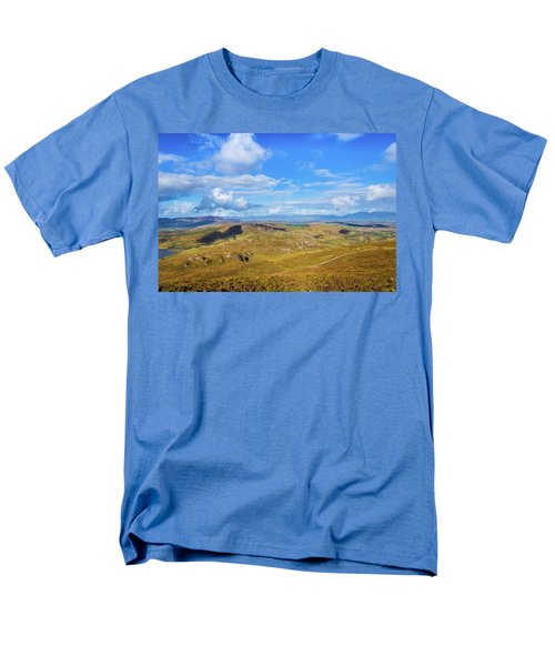 Men's T-Shirt  (Regular Fit) featuring the photograph View Of The Mountains And Valleys In Ballycullane In Kerry Irela by Semmick Photo