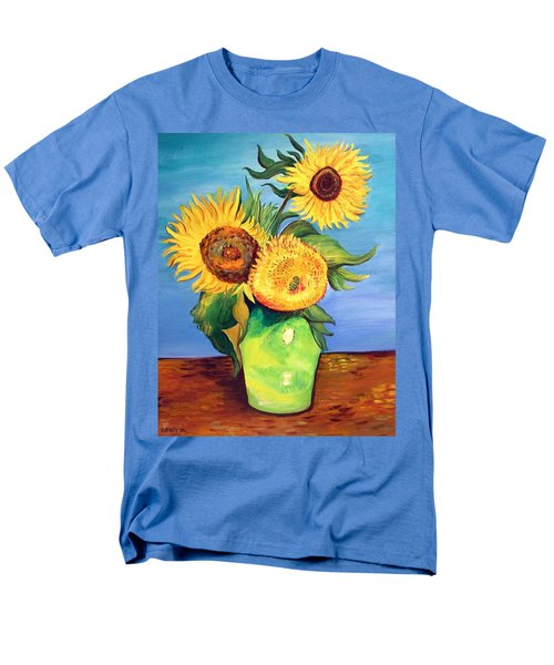 Vincent's Sunflowers Men's T-Shirt  (Regular Fit) by Patricia Piffath