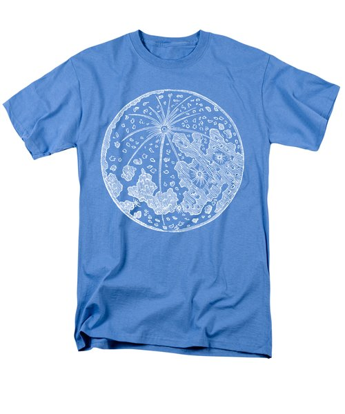 Men's T-Shirt  (Regular Fit) featuring the photograph Vintage Planet Tee Blue by Edward Fielding