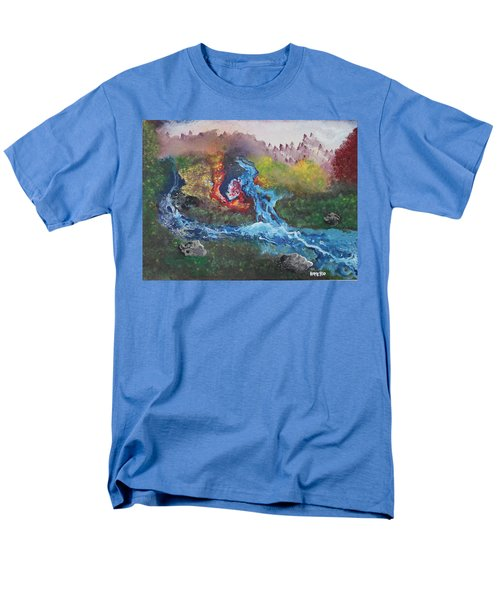 Men's T-Shirt  (Regular Fit) featuring the painting Volcano Delta by Antonio Romero