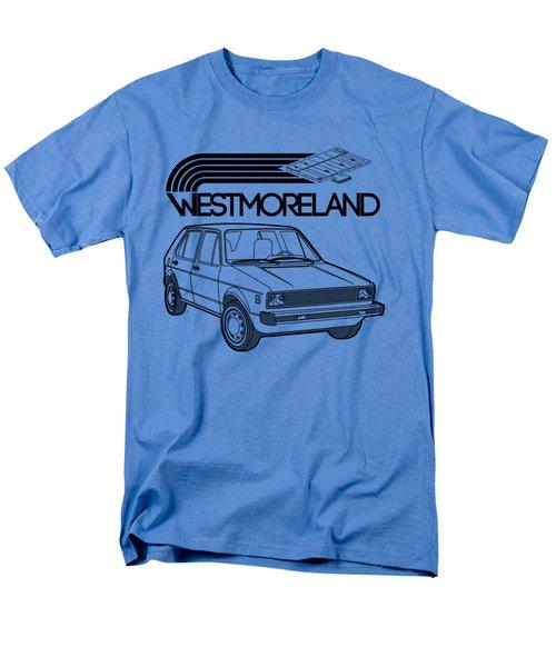 Vw Rabbit - Westmoreland Theme - Black Men's T-Shirt  (Regular Fit) by Ed Jackson