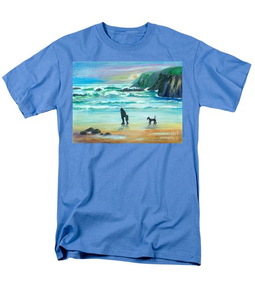 Walking With Grandpa - Painting Men's T-Shirt  (Regular Fit) by Veronica Rickard